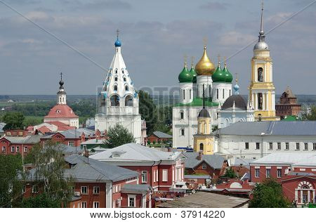 Churches In The Town Of Kolomna, Russia