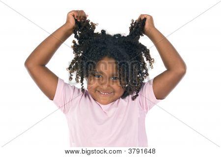 Adorable Girl Throw Her Hair