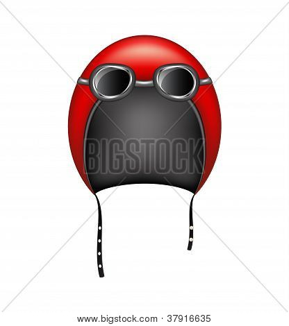 Retro motorcycle helmet and goggles