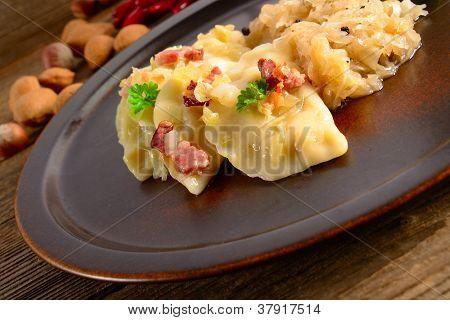 Pierogi.polish  Dish Pierogi With Sauerkraut And Mushrooms