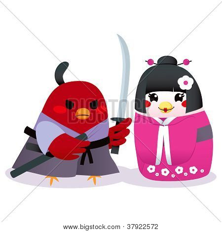 Traditional Japanese Birds