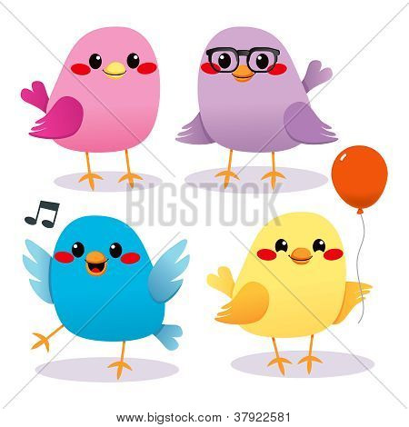 Colorful Bird Party