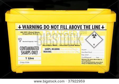 Yellow Sharps Box
