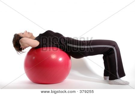 Woman On Fitness Ball 904