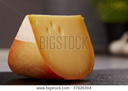 Close Up Gouda Cheese