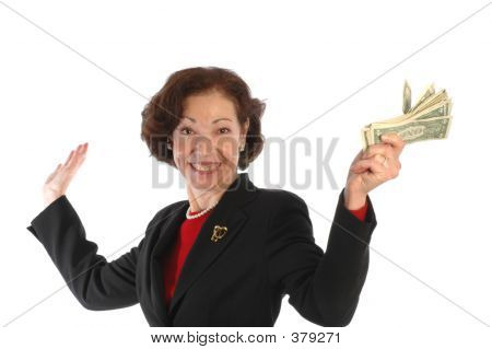 Woman With Cash 807