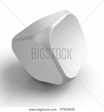White Empty Dice Shape Cube
