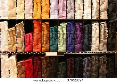 Multicolored Socks Stacked Neatly