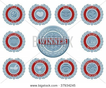 Winners Award Badges