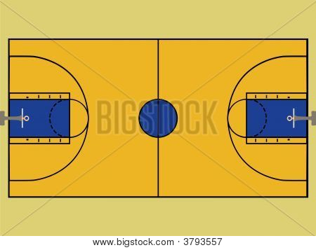 Basketball court images stock photos illustrations for How big is a basketball court