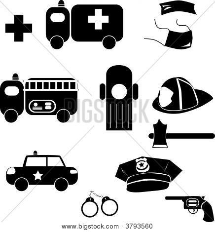 Notfall-Symbole
