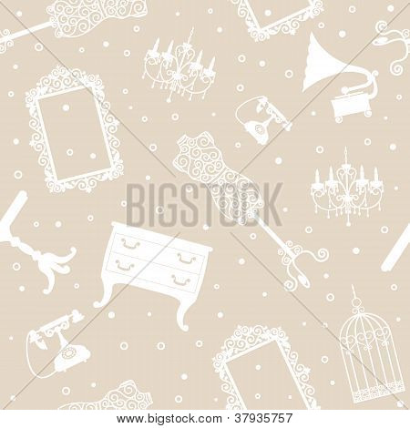 Background With Antique Furniture