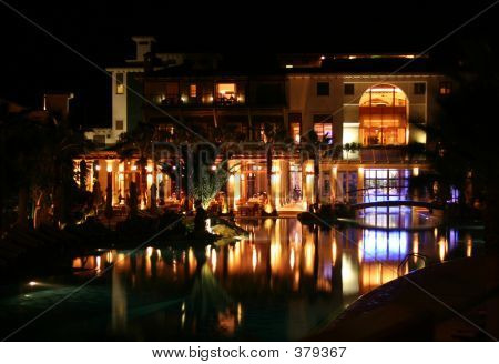 Luxury Hotel At Night