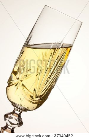 Champagne Glass Tilted