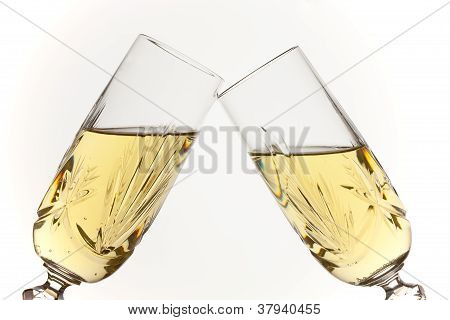 Champagne Glasses Toasting