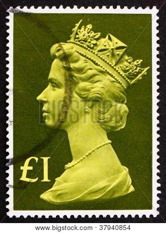 Postagem carimbo 1977 GB de sua Majestade a rainha ElizabethII
