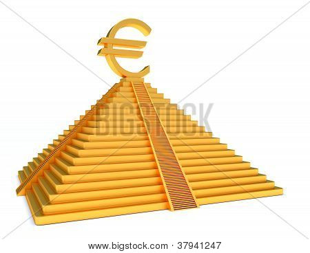 Gold Pyramid And Euro