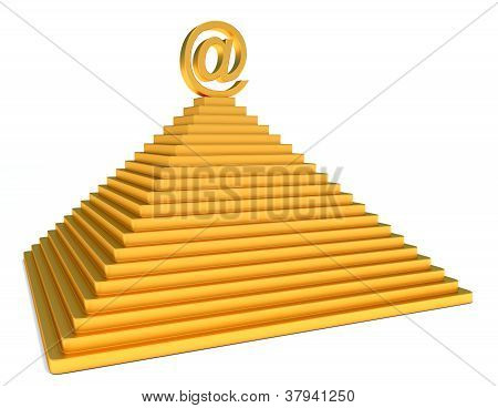 Pyramid And Gold Email