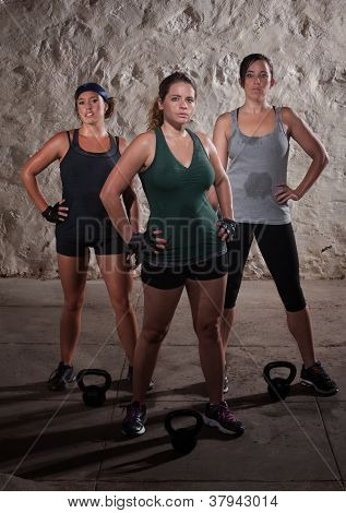 Sweating Ladies Finish Their Boot Camp Workout