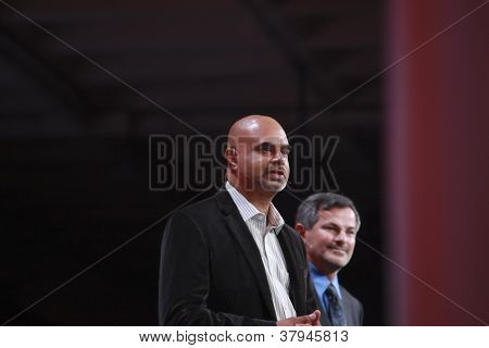 San Francisco, Ca, Oct 1, 2012 - Paypal  Vice President Technology Operations Nat Natarajan (left) M