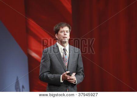 San Francisco, Ca, Oct 3, 2012 - Oracle  Executive Vice President John Fowler Makes Speech At Openwo