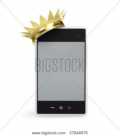 Mobile Phone Gold Grown
