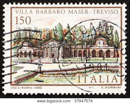 Postage stamp Italy 1980 Villa Barbaro Maser, Treviso