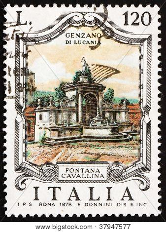 Postage stamp Italy 1978 Cavallina Fountain, Genzano di Lucania