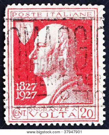 Postage stamp Italy 1927 Count Alessandro Volta,Physicist