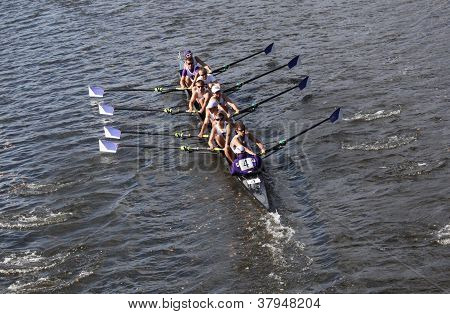 BOSTON - OCTOBER 21: Gonzaga races in the Head of Charles Regatta, Marin Rowing Association won with