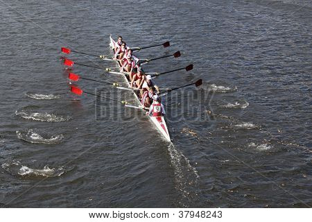 BOSTON - OCTOBER 21: St Josephs Preparatory School races in the Head of Charles Regatta, Marin Rowin