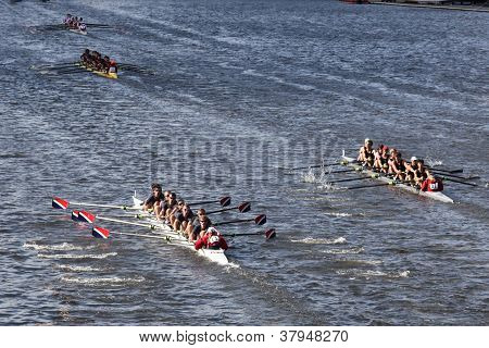 BOSTON - OCTOBER 21: Sammamish Rowing Association races in the Head of Charles Regatta, Marin Rowing