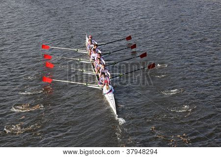 St Catharine's Rowing Club races in the Head of Charles Regatta