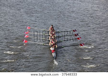 Marin Rowing Association races in the Head of Charles Regatta