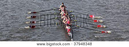 St. Augustine Prep High School races in the Head of Charles Regatta