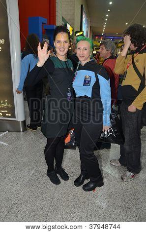 Costumed People At Destination Star Trek In  London Docklands 20Th October 2012