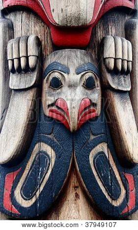 Bird-like Totem On A Carving