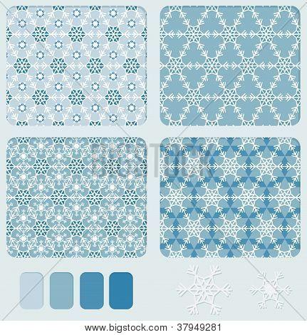 Snowflake's Geometric Seamless Pattern
