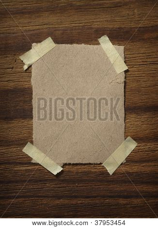 Note Paper  On Wooden Wall Business