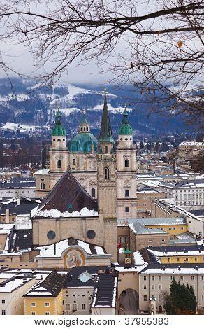 Salzburg Austria At Winter