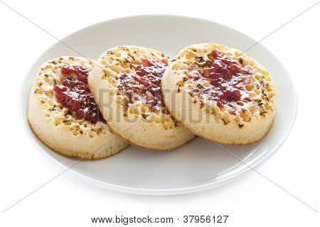 Toasted English Crumpets