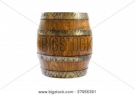 old barrel of wine isolated