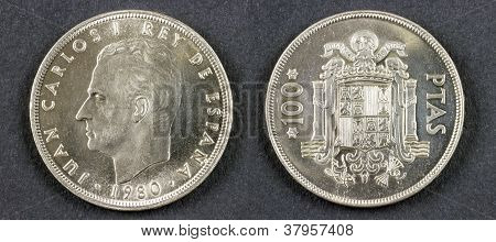 Ancient Coin King Juan Carlos I