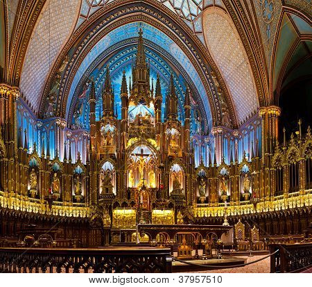 The Notre-dame Basilica In Montreal