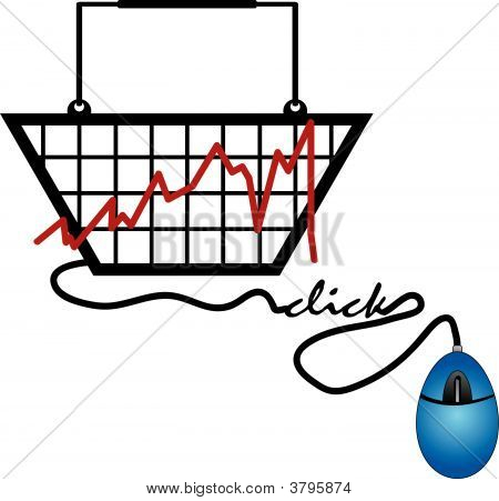 Basket With Graph Mouse Click