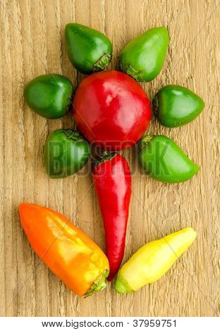 Flower Made Of Peppers