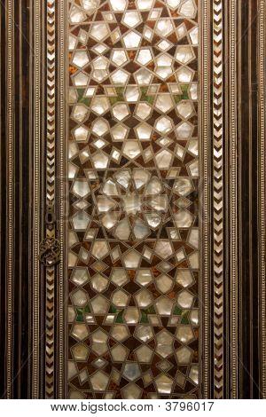 Engraved Wooden Door