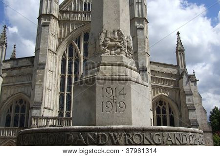 The War Memorial By Winchester Cathedral