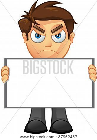Business Man - Blank Sign - 3