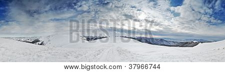 Winter Mountain Ridges